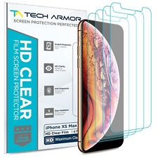 Tech Armor HD Clear Film Screen Protector for Apple iPhone Xs MAX [4-Pack]
