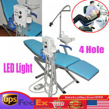 Portable Dental Folding Chair Rechargeable Led Lightturbine Unit4hweak Suction