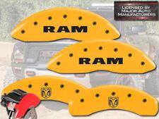 2002-2005 Dodge Ram 1500 Front Rear Yellow MGP Brake Disc Caliper Cover Ram Head