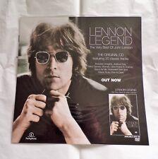"John Lennon ' Lennon Legend ' 2003  Promo Display Flat 12"" x 12"""