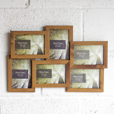 Wall Mounted Wooden Veneer Collage 6 Multi Photo Picture Frame Photograph 4x6