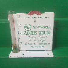Vintage Advertising Rain Gauge Planters Seed Co Shreveport Louisiana