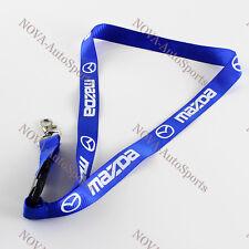 MAZDA Lanyard JDM Keychain Quick Release Miata RX7 RX8 Mazdaspeed 13B - BLUE