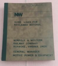 RA350 Guide Lines For Reclaimed Material Norfolk And Western Railway Company RR
