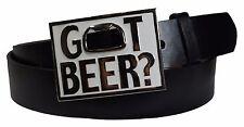 Fashion Got Beer Print Mens Belt Buckle With Bottle Opener-Free Belt Strap 43 in