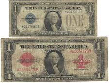 SCARCE * STAR *1928A funny back & Large 1923 RED seal $1.WIN 2 RARE NOTES = NR =