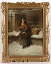 "Edward Charles Barnes (ca. 1830-ca.1894) ""The flower seller"", oil on canvas"