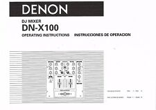Denon manual de instrucciones User Manual owners manual para DN-X 100