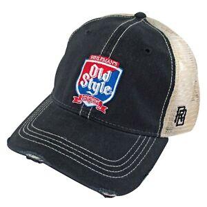 Old Style Shield Retro Brand Men's Trucker Hat Blue