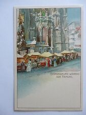 Postcard Stephan space while the confirmation Art Card Vienna H. JUNKER