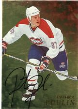 98-99 BE A PLAYER SIGNATURE AUTOGRAPH AUTO GOLD PATRICK POULIN CANADIENS *35299