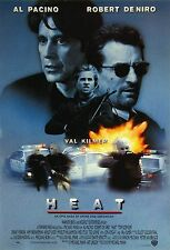 "HEAT Silk Fabric Movie Poster 24""x36"" Robert De Niro Al Pacino Val Kilmer 1995"