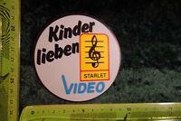 Alter Aufkleber Musik HiFi Foto Video Film STARLET Kinder lieben Starlet Video