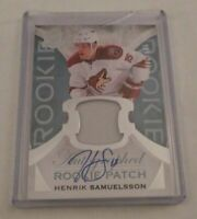 HENRIK SAMUELSSON - 2015/16 THE CUP - ROOKIE AUTOGRAPH PATCH - #160/249 -