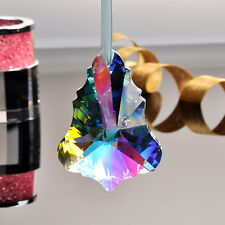 Rainbow Crystal Glass Chandelier Lamp Prisms Parts Hanging Drops Pendants 76mm