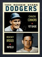 Chuck Connors & Rocky Bridges '50 Brooklyn Dodgers rookie stars Pastime #3