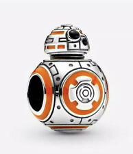 💎🎀 STERLING SILVER 925 STAR WARS BB8 CHARM & POUCH