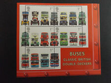 GB MNH STAMP MINIATURE SHEET 2001 Double-Decker Buses SG MS2215 10% OFF FOR 5+