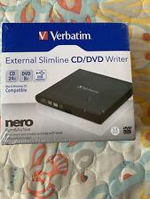 Verbatim External Slimline CD/DVD Writer New Sealed