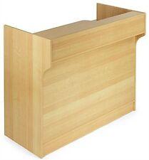 4 Ft Maple Melamine Register Stand Adjustable Shelves Pull Out Drawer