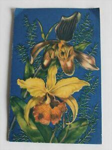 Nadelmappe, Nähset, nicht vollständig, Orchideen