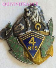 IN9685 - INSIGNE 4° Régiment de Tirailleurs Sénégalais, plein, vert clair, ancre