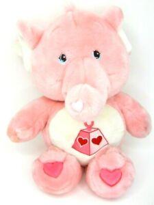 "Care Bear Cousins Lotsa Heart Elephant Stuffed Plush Pink 23"" Vntg 2004 Jumbo"