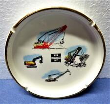 Vintage Bucyrus-Erie BE Heavy Equipment Advertising Ashtray by Streff