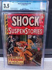 EC SHOCK SUSPENSTORIES #14 1954 CGC 3.5 SENATE INVESTIGATION HEARING PRE-CODE