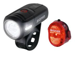 Sigma Aura 45 Set 17460 Fahrradlicht 45 Lux LED Fahrradlampe STVZO Rücklicht USB