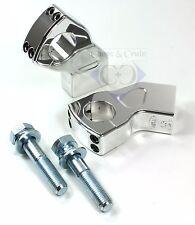 Riser / Lenkerhalter - EK Pullback - 60 mm hoch - M12 - 1 Zoll - Alu poliert
