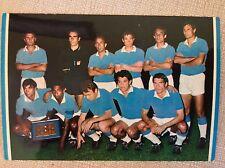 CARTOLINA CALCIO NAPOLI SQUADRA SCHIERATA CAMPIONATO 1966/67 NOTTURNA