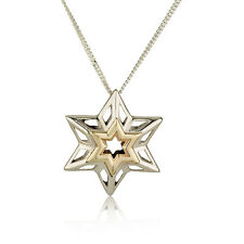Necklace The high star | Material and spiritual protection 14K Gold  silver 925