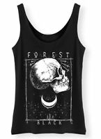 Black Forest Tank Top Ladies Womens Gothic Skull Moon Trees dope Vest urban