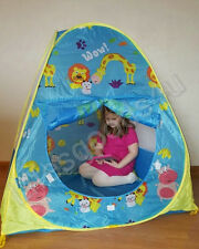 New Portable Folding Childrens Pop up Bow Wow kids play tent fort castle