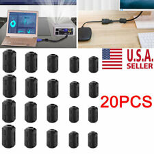 Cable Clips 20PC Clip-on Ferrite Ring Core RFI EMI Noise Suppressor Filter Beads