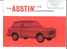BMC AUSTIN A40 COUNTRYMAN SALES BROCHURE EARLY/MID 60's