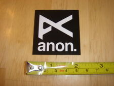 Burton ANON Snowboard Goggles STICKER Decal NEW
