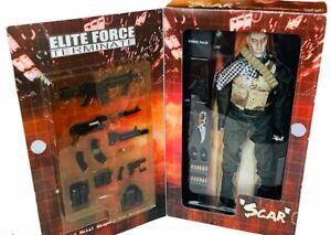 "Elite Force Scar Terminate Military action figure Toy Blue Box NIB 12"" Diecast"