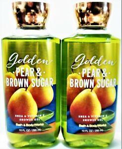 Bath Body Works GOLDEN PEAR & BROWN SUGAR Shower Gel, 10 fl. oz/295 mL, NEW x 2
