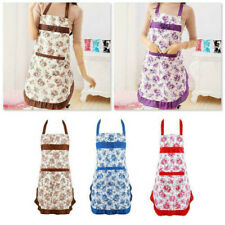 Cooking Apron For Women Bib Kitchen Aprons BBQ Baking Restaurant With Pocket