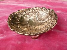 QUALITY HEAVY GERMAN STERLING SILVER SHELL WITH SHELL FEET HALLMARKED 5.63 T OZ