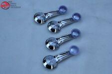 Inside Door Quarter Window Regulator Crank Handle Kit Set Clear Knobs C Clips
