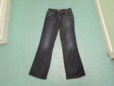 "River Island Slouch Jeans Size 8 Leg 34"" Faded Dark Blue Ladies Jeans"