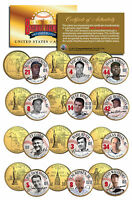 GOLDEN BASEBALL LEGENDS * Hall of Fame * State Quarters 12-Coin Set Gold Plated