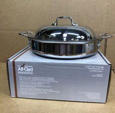 All-Clad  SS Copper Core 5-Ply Bonded Dishwasher Safe Sauteuse with Domed Lid