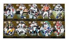 1997 Pacific Invincible Pop Cards Insert Set 1-10 Emmitt, Sanders, Favre, Rice