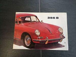 Prospekt Faltprospekt original Porsche 356 B von 1960, 8 Seiten W22e Englisch