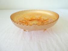 Coupe orange en verre irisé VERRE DE CARNAVAL / Carnival Glass ART NOUVEAU