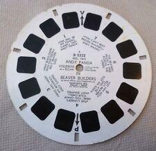 Vintage Viewmaster - Sawyer's Single Reel B 5222 Andy Panda Beaver Builders R2